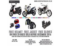 NEW BIKES AND SCOOTERS FROM £1199 NEW MODELS JUST ARRIVED GREAT DEALS NOW ON FREE CLOTHING ETC