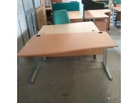 Beech left hand wavy desk