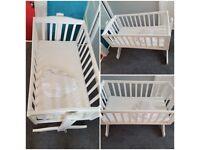 Babies white crib