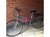 Silver/Pink Ladies/Girls Mountain Bike with 18 Gears - £15 for QUICK SALE