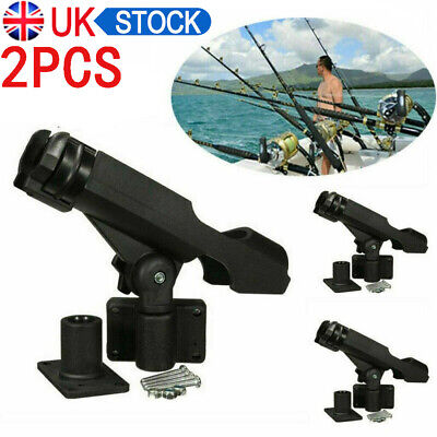 2 X Sea Beach Fishing Rod Holder Rack Stand Rest For Boat Kayak Yacht Adjustable