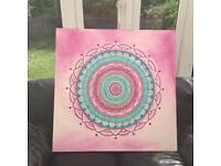 ✅ Spiritual Painting on Canvas 90x90cm