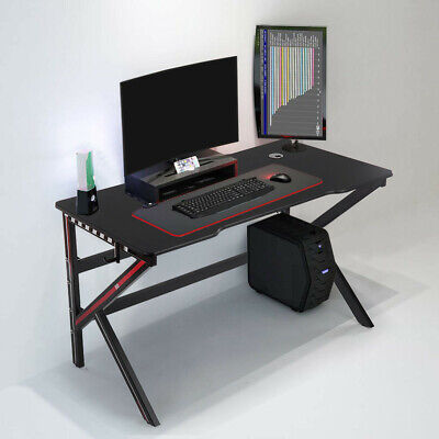 New Pc Laptop Wood Table Black Computer Desk Workstation Office Home Furniture