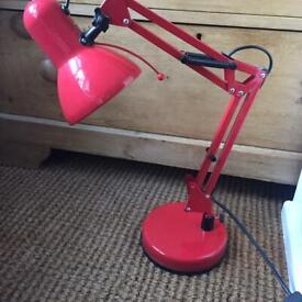 Red metal Desk lamp