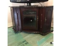 Mahogney TV and entertainment corner cabinet on wheels - must go & open to offers!!!