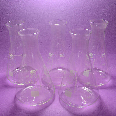 1000ml Conical Flaskerlenmeyer Flaskwith Wide Mouthlab Glassware5pcslot