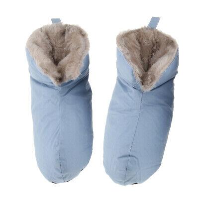 Unisex Winter Duck Down Slippers Ultralight Ankle Pull On Shoes Feet Warmer