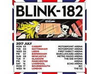 Bournemouth X 3 - Blink 182 tickets - next to each other - upper balcony row p, seats in 60's!