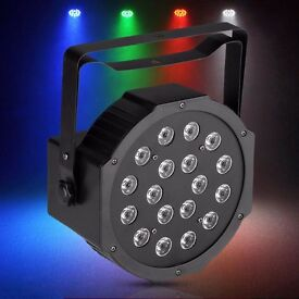 LED RGB Colour Changing Stage PAR Can Light DJ Disco Club Effect Lighting UP Lighter DMX Strobe