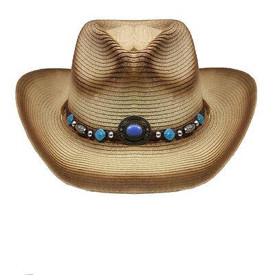 Stroh-cowboy-hut ( WESTERNHUT STROH COWBOYHUT RODEO FARBEN ZZP HAT-041 )