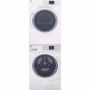 Combo laveuse/sécheuse empilable, couleur Blanc, GE