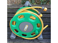 Garden hose and reel £15