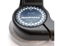 Manfrotto #115 three way tripod head in good refurbished condition