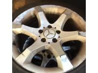 """Selection of Mercedes ally wheels sets size 15"""",16""""and 17"""" from £50."""