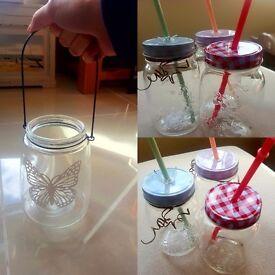 Glass lanterns and jars