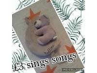 Bedtime singing teddy