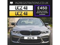 UCZ 411 Number plate / Cherished registration - IN2REGISTRATIONS-(Car,Van,Lorry,Motorcycle)