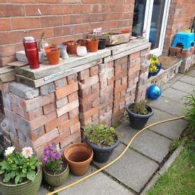 Belfast brick reclaimed and cleaned. Approximately 250 of 45p each