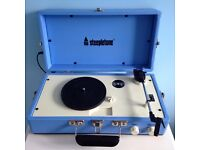 Steepletone SRP025 1960s Style Retro Portable Vinyl Record Player With Built in Speaker