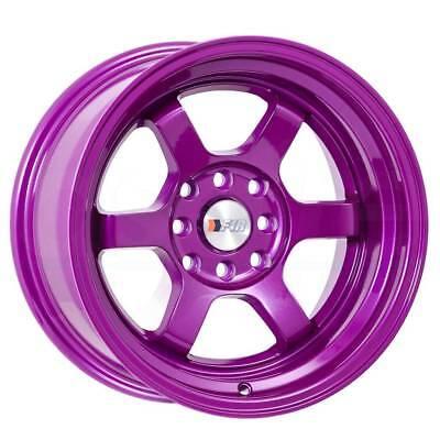 "F1R Wheels F05 Rims 15x8 4x100 4x114.3 +0 Offset 3"" Stepped Lip Purple"