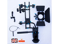 Pro carbon fiber DSLR shoulder Rig kit with Follow Focus handle magic arm straps Made in USA