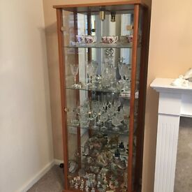 Glass display cabinet REDUCED FOR QUICK SALE