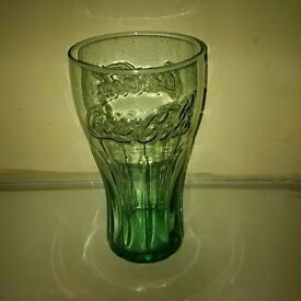 Coca Cola Toughened Glass Green 14cm New