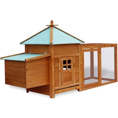"75"" Deluxe Wooden Chicken Coop Backyard Nest Box Hen Pet House Rabbit Wood Hutch"