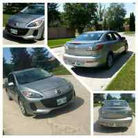 2013 Mazda 3 w/ only 27000km well maintained!