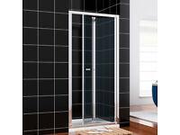 760MM BI Fold Shower Doors Chrome Shower Door Brand New Quality Chrome Door
