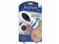 New Genuine PediSpin JML Electric Hard, Dry, Rough, Skin Remover, Pedicure/Foot Care!