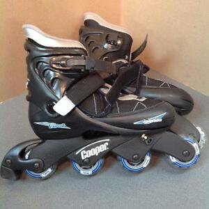 Adjustable Rollerblades - size 5-7 - Black/Grey (sku: ACLBNX)