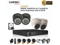 2MP VariFocal Dome Cameras and 4CH DVR kits 1080p IR Weatherproof CCTV system