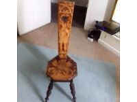 Sewing Chair antique with pin design