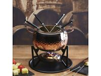 Master Class Artesa Stainless Steel 6-Person Party Fondue Set *BRAND NEW*