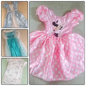 Girls dressing up dresses 5-6 Minnie frozen Cinderella chinese