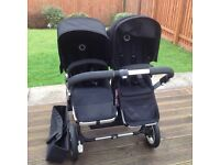 Bugaboo donkey twin pushchair and carrycot