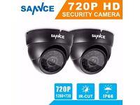 SANNCE 2X720P HD Night Vision Security Surveillance CCTV TVI Camera weatherproof