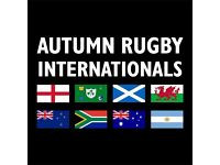 2x SA v ENG Autumn International Rugby Tickets - Twickenham 12 November 2016
