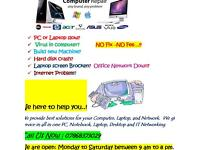 Computer/PC /Laptop Repair /IT Networking Services Same Day ......!!!