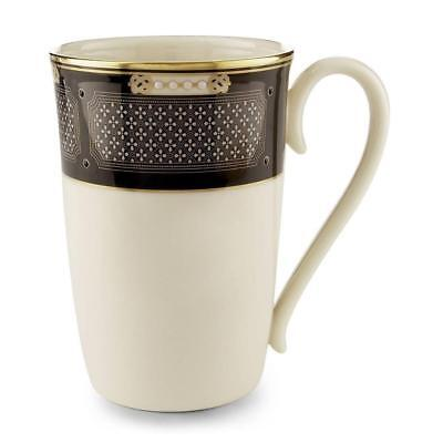Lenox Hancock Gold Banded Tall Coffeee Mug Set Of 4 New