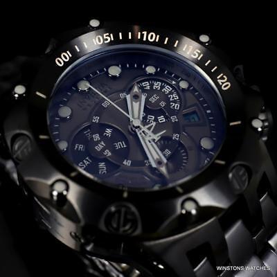 Invicta Reserve Venom Hybrid 52mm Black Steel Swiss Mvt Chronograph Watch New