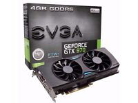 EVGA GeForce GTX 970 FTW GAMING ACX 2.0 GRAPHIC CARD WITH WARRANTY FULLY BOXED