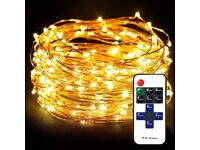 Waterproof Fairy Lights Copper Wire Lights, Led String (100LED, 33FT)