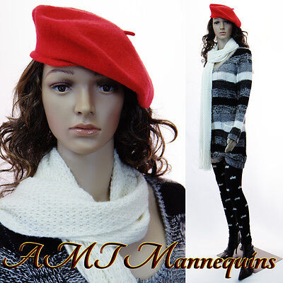 Female Mannequin Metal Base Full Body Realistic Looking Standing -p22wigs