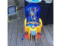 Child bike attachment seat