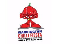 STAFF WANTED AT WARRING TON CHILLI FIESTA 2016 6TH & 7TH AUGUST