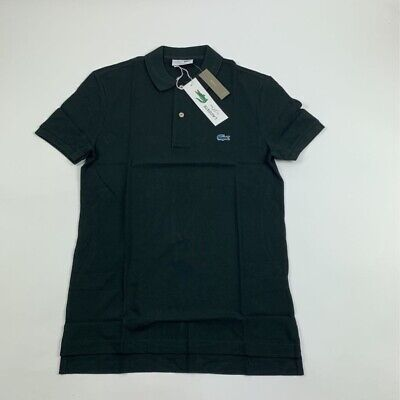 Lacoste For J Crew Mens Golf Polo Shirt Black 100% Cotton Gator Logo 3 Small New