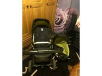 Oyster 2 carrycot, pram, rain cover and extra hood for the pram