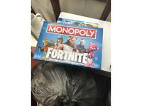 Board game : Fortnite Monopoly used once